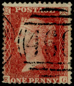 SG40, 1d rose-red PLATE 47, LC14, FINE USED. Cat £18. EG