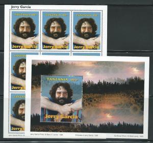 Tanzania 1412-3 1995 Jerry Garcia m/s and s.s. MNH