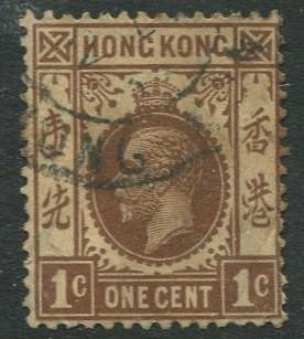 Hong Kong -Scott 109 - KGV Definitive -1938 - FU - Single 1c Stamp