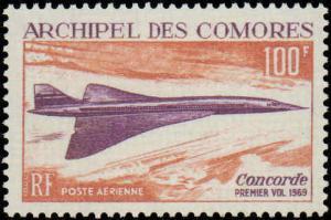 Comoro Islands #C29, Complete Set, Never Hinged