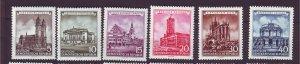 J24141 JLstamps 1955 germany DDR set mh #265-70 cathedrals