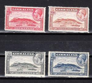 Gibraltar Scott 96-99 Mint hinged (Catalog Value $21.75)