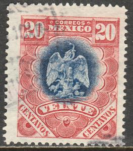 MEXICO 300, 20cents EAGLE COAT OF ARMS. USED .VF. (192)
