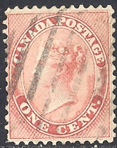 Canada #14 ii  very thick paper   Used  F-VF       - Lakeshore P...