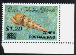 COCOS IS 1990 $1.20 Shell emergency overprint MNH..........................13478