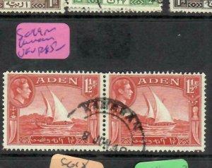 ADEN  (PP1106BB) KGVI 1 1/2A  PR SG 19 KAMARAN CDS   VFU