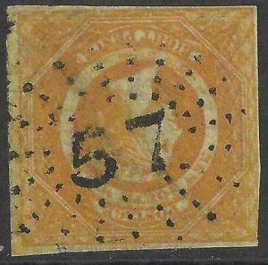 Australia - New South Wales 1854-1855 SC 30 Used SCV $1990.00