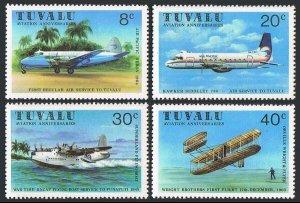 Tuvalu 142-145,MNH.Michel 129-132. Aviation anniversaries 1980.