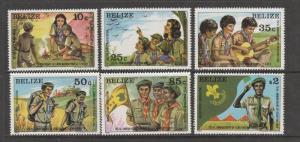 Belize 1982 Scouting UM SG 687/92