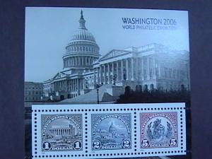 U.S.# 4075--MINT/NH--SOUVENIR SHEET OF 3 --WASHINGTON PHILATELIC EXPO---2006