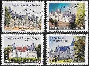 France 4241-4244 Used - ‭‭‭Historic Residences