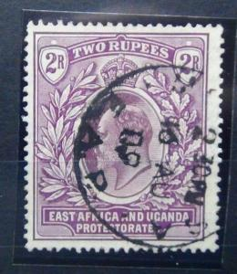 East Africa and Uganda 1904 - 1907 2R Dull and Bright Purple SG27 Used