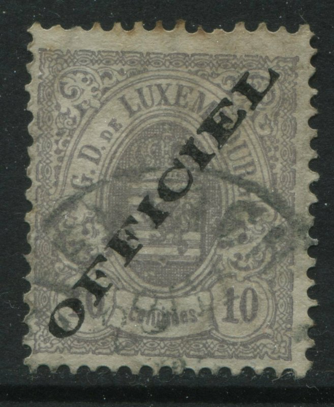 Luxembourg 1875 overprinted Officials 10 centimes used