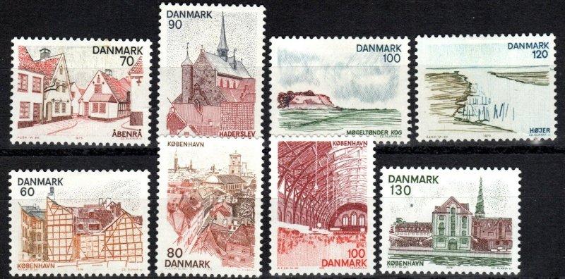 Denmark #576-9, 586-9 F-VF Unused CV $4.75 (X5371)