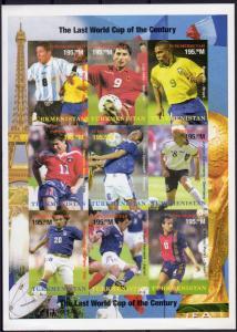 Turkmenistan 1998 YT#102/110 Football World Cup France '98/Space Shlt.IMPERF.MNH