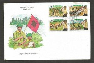 1977 Dominica Boy Scouts 6th Caribbean Jamboree FDC