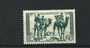 MAURITANIA  1938 - 40  45C  BLUE GREEN      MH
