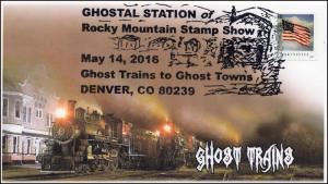 2016, Ghost Trains, Ghost towns, Denver CO, Rocky Mnt Stamp Show, 16-274