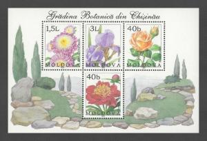 Moldova 2002 Flowers Botanical Garden Block 4 MNH stamps
