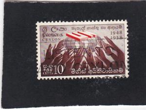 Ceylon #357 used