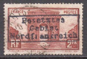 FRANCE 263 GERMANY OCC DUNKIRK NORDFRANKREICH LOCAL OVPT POSTALLY USED XF SOUND