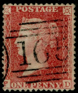 SG40, 1d rose-red PLATE 60, LC14, FINE USED. Cat £30. PD
