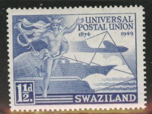 Swazialand Scott 50 MH* 1949 UPU  stamp