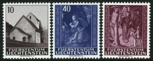 Liechtenstein 391-393,MNH.Michel 445-447. Maseccha chapel.Altarpiece.1964.