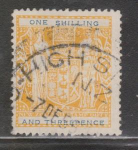 NEW ZEALAND Scott # AR101 - Used - Postal-fiscal Issue Lemon Shade
