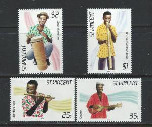 St. Vincent MNH 845-8 Musical Instruments SCV 2.00