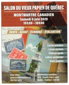 CANADA, SALON DU VIEUX PAPIER DE QUEBEC 6 JUIN 2020 POSTER CARD, CINDERELLA