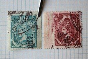 Mexico Revenue R233D/1 R231 1903-1904 1peso 10p