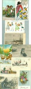 Denmark. 10  Different  Post/Christmas Card.From 1907 - 1971. Used. All Damaged
