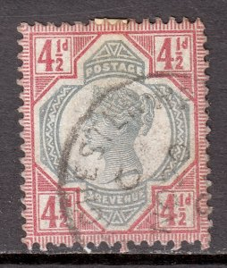 Great Britain - Scott #117 - Used - Heavily old time hinge, toning  SCV $32.00