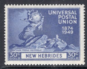 New Hebrides British 64 UPU MNH VF