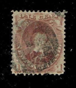 Newfoundland #32A SG 35 U VF 1c 1868-1894 Is [N4043] CV=$100.00
