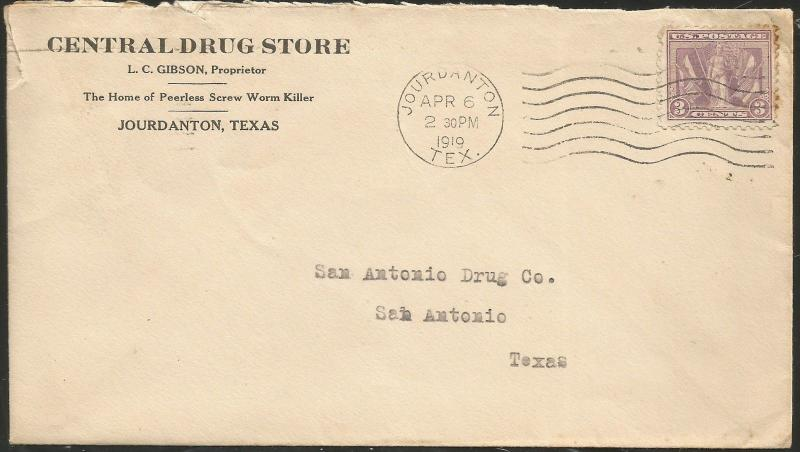 TEXAS ATASCOSA COUNTY (1919 Jourdanton, Victory Issue Usage)
