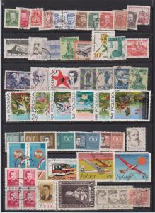 LOT OF DIFFERENT STAMPS OF POLAND USED (52) LOT#122