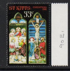 ST.KITTS SG90w 1981 CHRISTMAS 55c MNH