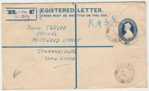 INDIA 1944 KGVI REGISTERED FIELD POST CENSOR COVER TO SOUTH AFRICA
