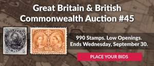 The 45th Great Britain & Commonwealth Auction