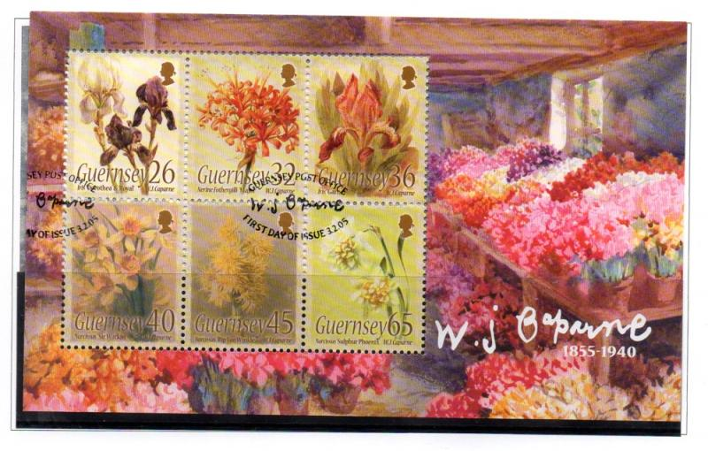 Guernsey Sc 865a 2005 Caparne Floral  stamp sheet used