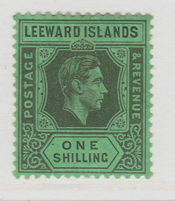 Leeward Islands 1938 1s Wmk Mult Script CA Chalk Paper MH* Stamp A22P14F8626