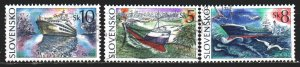 Slovakia. 1994. 213-15. The ships. USED.