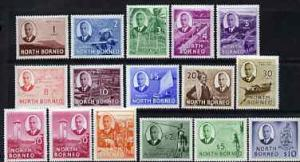 North Borneo 1950-52 KG6 full face definitive set complet...
