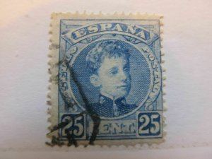 Spanien Espagne España Spain 1901 King Alfonso XIII 25c fine used stamp A5P2F154