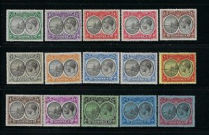 DOMINICA SCOTT #65-79 1923-33 GEORGE V SEAL OF THE COLONY SHORT SET- MINT LH