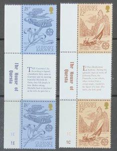 GUERNSEY 1981 EUROPA GUTTER PAIR. SG230/231 UNMOUNTED MINT