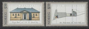 NORWAY SG1420/1 2001 ARCHITECTURE MNH