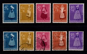 Netherlands 1958 Cultural & Social Relief Fund, Costumes Set [Unused / Used]